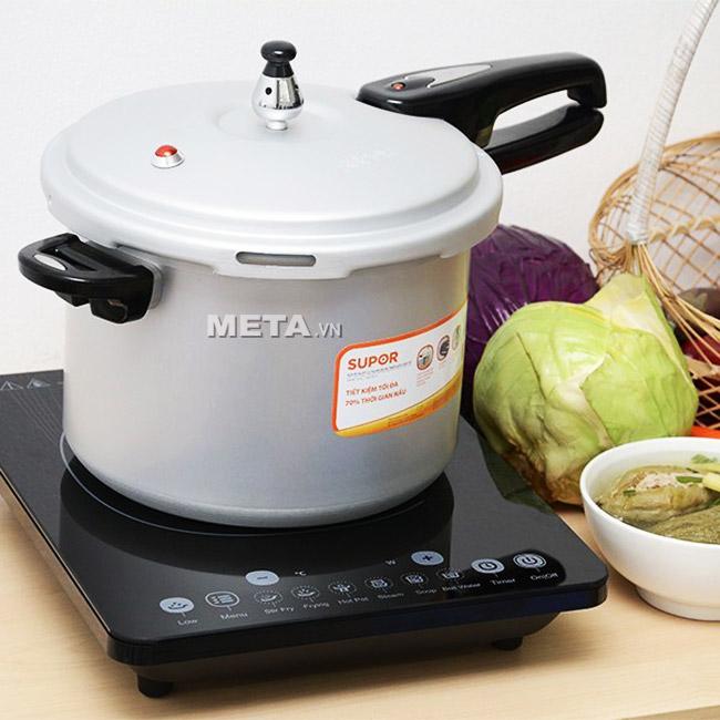 Nồi áp suất cơ Supor YL223F10 dùng trên bếp điện từ