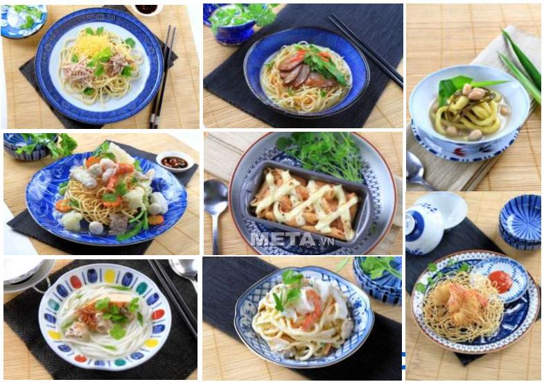 Máy làm mỳ Philips HR2365 giúp chế biến các món ăn Việt với mỳ, nui, hoành thánh