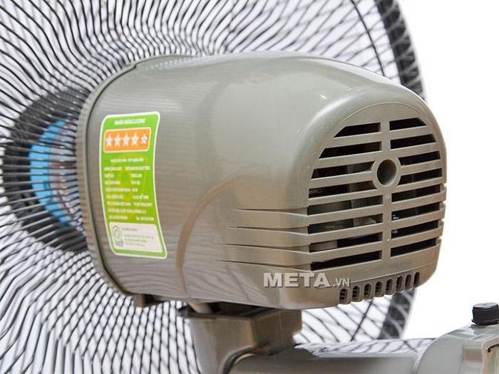 Quạt treo tường Mitsubishi W16RV (RT/RS) thiết kế hộp động cơ thông thoáng giúp làm tăng hiệu quả tản nhiệt.