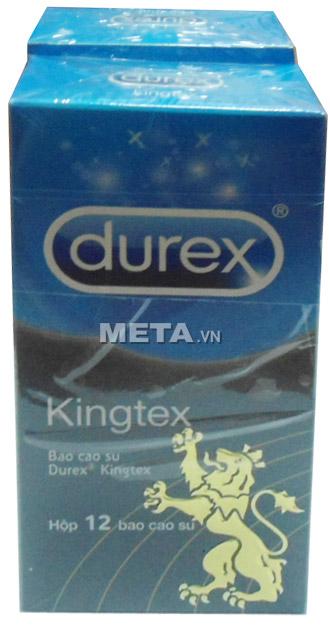 Bao cao su Durex Kingtex là bao cao su giá rẻ dành cho dương vật có kích thước bé