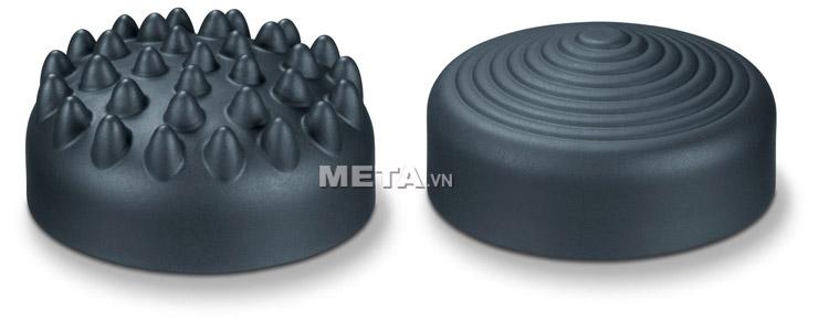 Hai đầu massage của máy massage cầm tay Beurer MG100