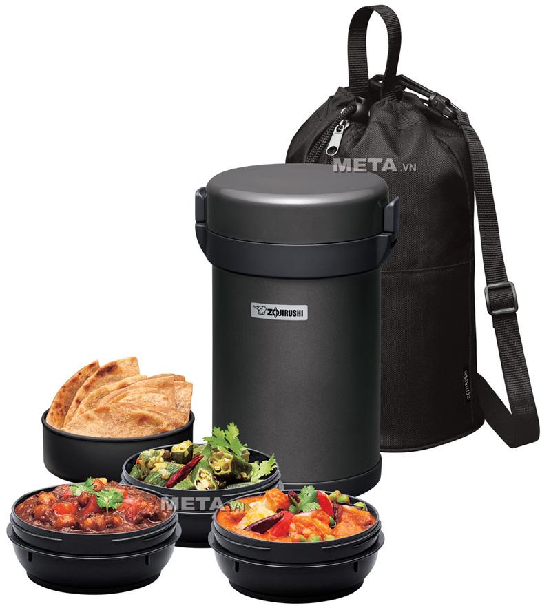 Cặp lồng cơm giữ nhiệt Zojirushi SL-XCE20 giúp bạn giữ được hương vị tự nhiên của thức ăn.