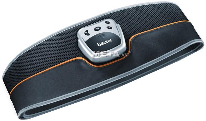 Đai massage bụng Beurer EM35 có màu đen, thiết kế thoáng khí