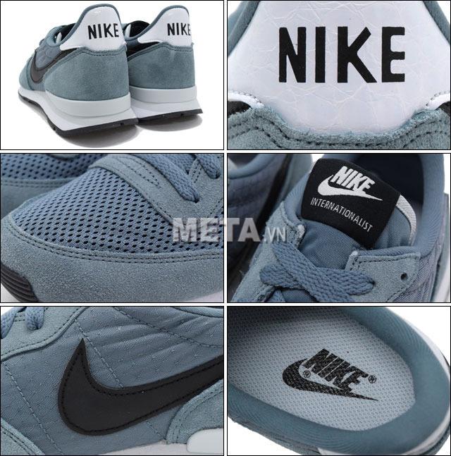 Giày thể thao Nike với chất liệu da lộn, lưới và vải dệt tổng hợp