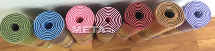Thảm Yoga TPE Đài Loan được làm rất dày dặn 6.0mm.