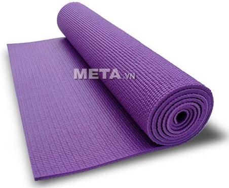 Thảm Yoga PVC trơn không hoa văn WP1 dễ dàng cuộn tròn khi không sử dụng.