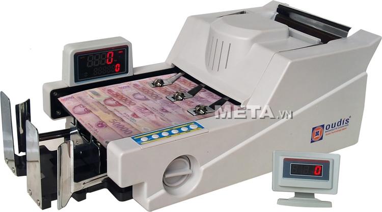 Máy đếm tiền kiểm tra tiền siêu giả Oudis 9688 đếm và kiểm tra các loại tiền giả, siêu giả.