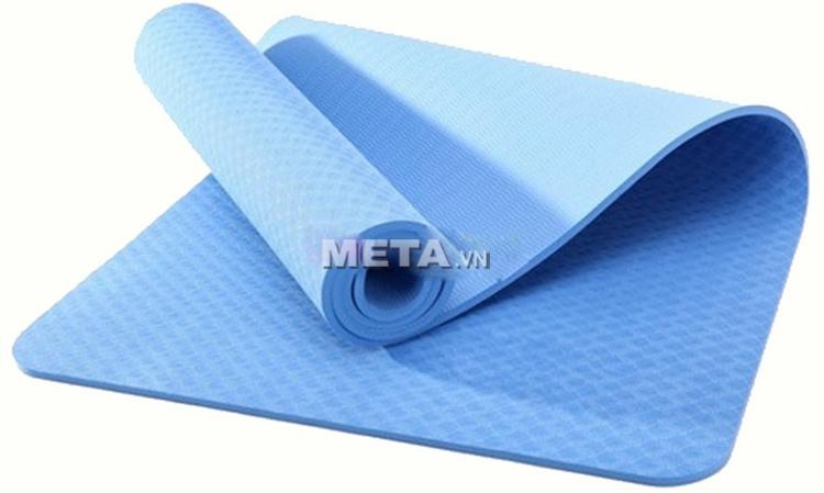 Thảm Yoga TPE 8 ly màu xanh dương