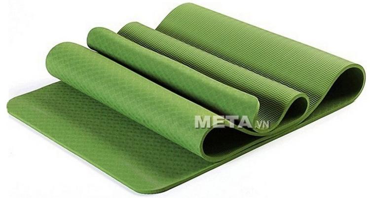 Thảm Yoga TPE 8 ly màu xanh lá