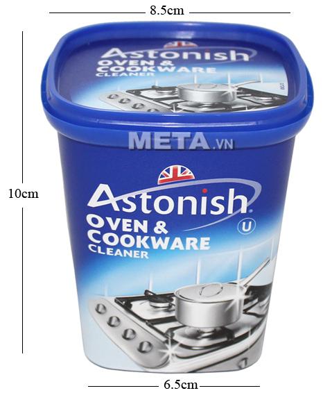 Kích thước hộp chất tẩy rửa dụng cụ nhà bếp Astonish 500g