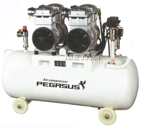 Máy nén khí không dầu, giảm âm Pegasus TM-OF550x2