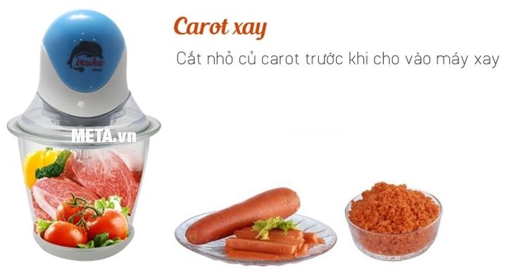 Máy xay thực phẩm Iruka I-09 xay cà rốt