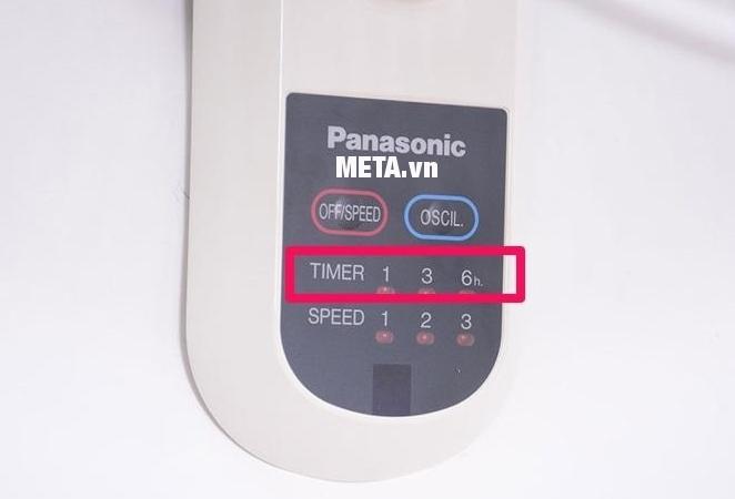 Bạn dễ dàng nhấn phím để điều chỉnh tốc độ, độ quay hay hẹn giờ ngay trên quạt.