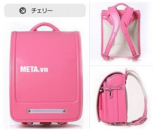 Cặp chống gù lưng Randoseru Nhật Bản màu hồng