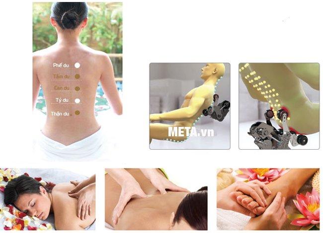 Ghế massage toàn thân Maxcare Max-4D cho khả năng định vị huyệt đạo với độ chính xác cao nhấ