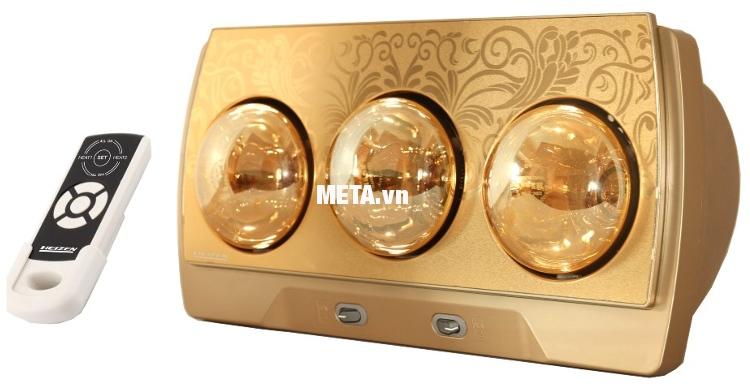 Đèn sưởi nhà tắm 3 bóng có điều khiển Heizen HE3BR phù hợp với diện tích phòng tắm từ 4-6m2