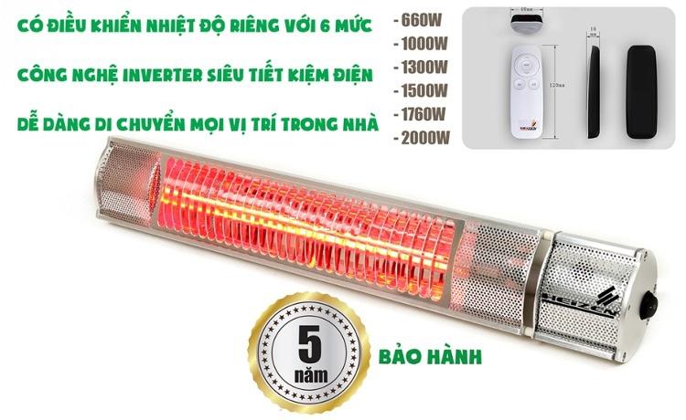 Đèn sưởi nhà tắm không chói mắt có điều khiển Heizen HEIT-R là dòng đèn sưởi tốt nhất cho người già và trẻ nhỏ.