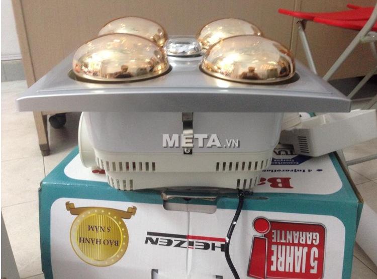 Đèn sưởi âm trần Heizen có điều khiển HE4B-R an toàn tuyệt đối khi sử dụng.