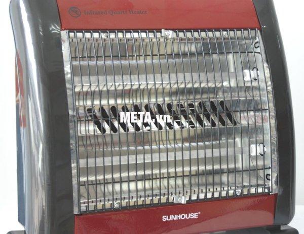 Sưởi điện hồng ngoại Sunhouse SHD7013 sử dụng hệ thống đèn hồng ngoại an toàn
