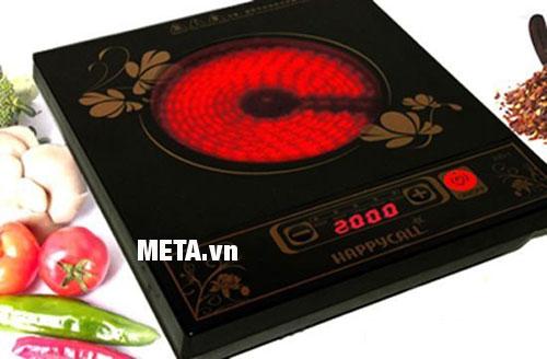 Bếp hồng ngoại khi nấu xong vẫn còn nhiệt độ dư rất lớn vì vậy cần lưu ý khi sử dụng