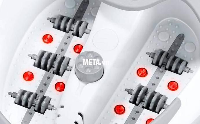 Bồn massage chân FB-50 có 8 đèn hồng ngoại dưới đáy bồn