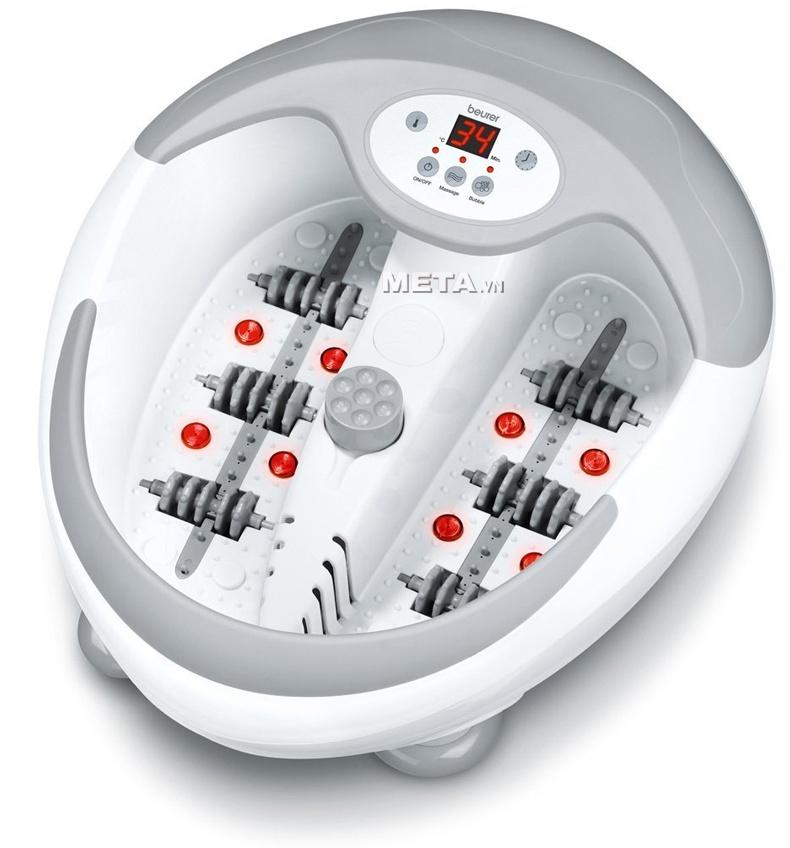 Bồn massage chân Beurer FB-50 có khả năng tự làm nóng nước với mức nhiệt độ phù hợp từ 35 - 48 độ.