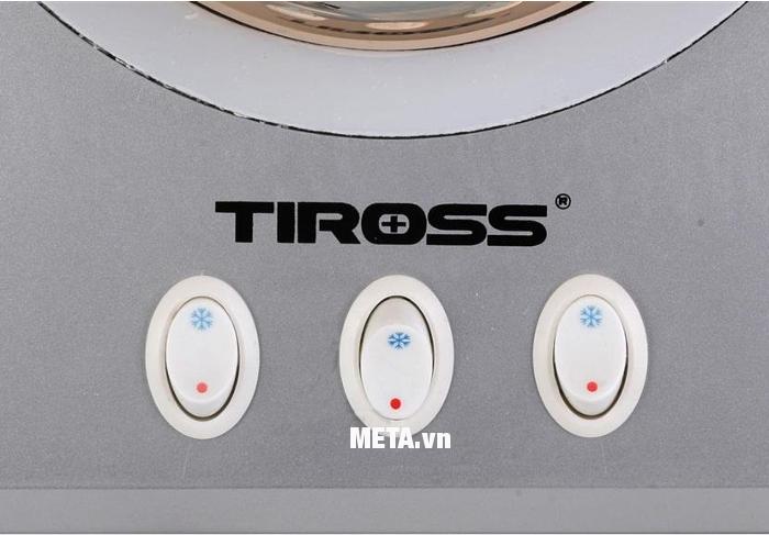 Đèn sưởi nhà tắm 3 bóng Tiross TS9292 có 3 công tắc riêng biệt.