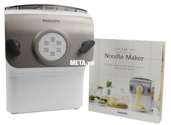 Máy làm mỳ Philips HR2365 cho ra nhiều sợi mỳ khác nhau.