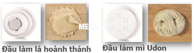 óKhách hàng có thể mua thêm đầu khuôn làm hoành thánh và đầu khuôn làm mì Udon.