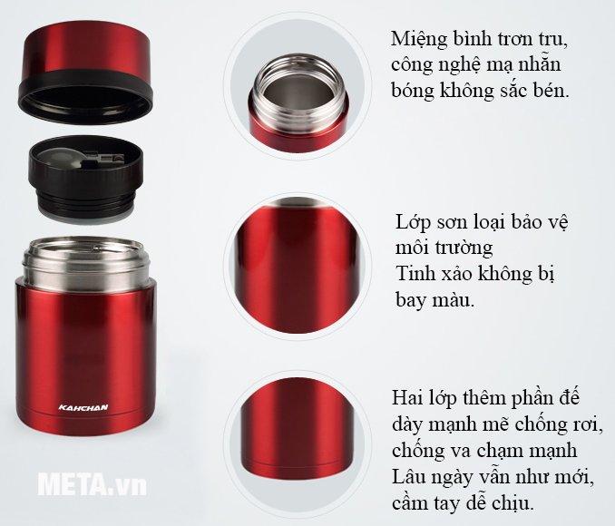 Cấu tạo của bình nấu thức ăn không điện Kahchan XFJ5-50