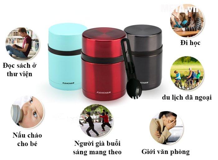 Bình nấu thức ăn không điện Kahchan XFJ5-50 thuận tiện, giúp bạn mang theo khắp mọi nơi