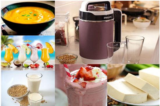 Máy làm đậu nành có thể làm sữa đậu nành và nhiều món ăn hấp dẫn khác.