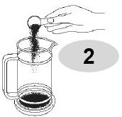 Đổ  nguyên liệu vào bình pha cà phê Bialetti kiểu Pháp 1L 990003190