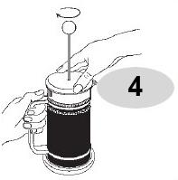 Đậy nắp bình pha cà phê Bialetti kiểu Pháp 1L 990003190 vào