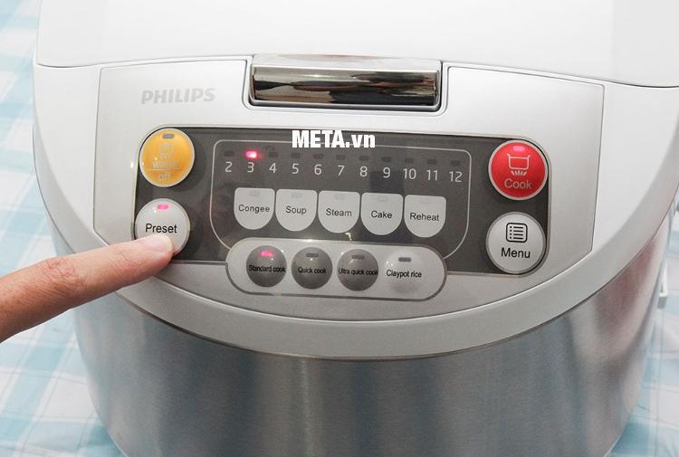 Nồi cơm điện tử Philips HD-3038 có chức năng nấu nhanh, giúp tiết kiệm thời gian.