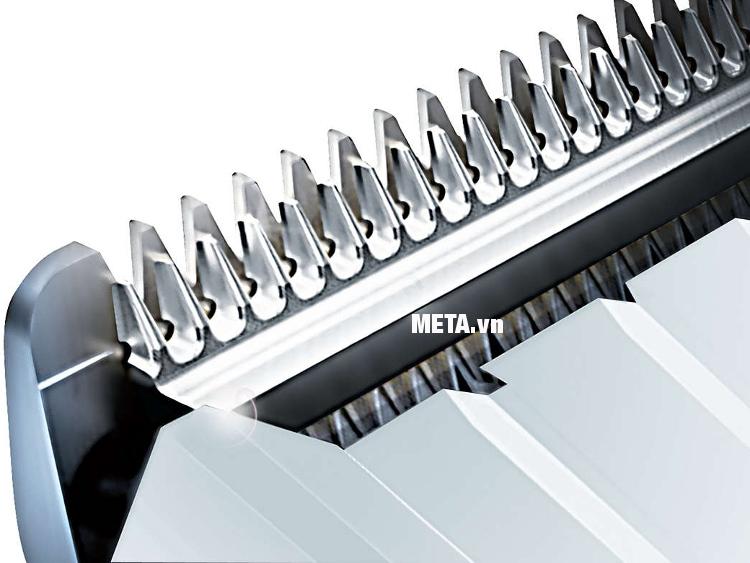 Tông đơ cắt tóc Philips HC3426 trang bị lưỡi cắt sắc bén, bền bỉ.