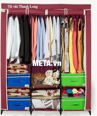 Tủ vải Thanh Long TVAI14 màu đỏ bóc đô