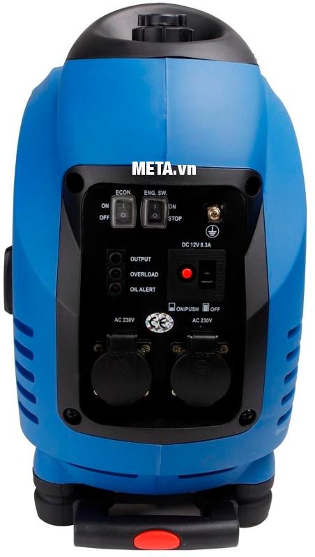 Máy phát điện biến tần kỹ thuật số Fujihaia GY2500 có dung tích bình xăng lớn giúp sử dụng được lâu hơn.