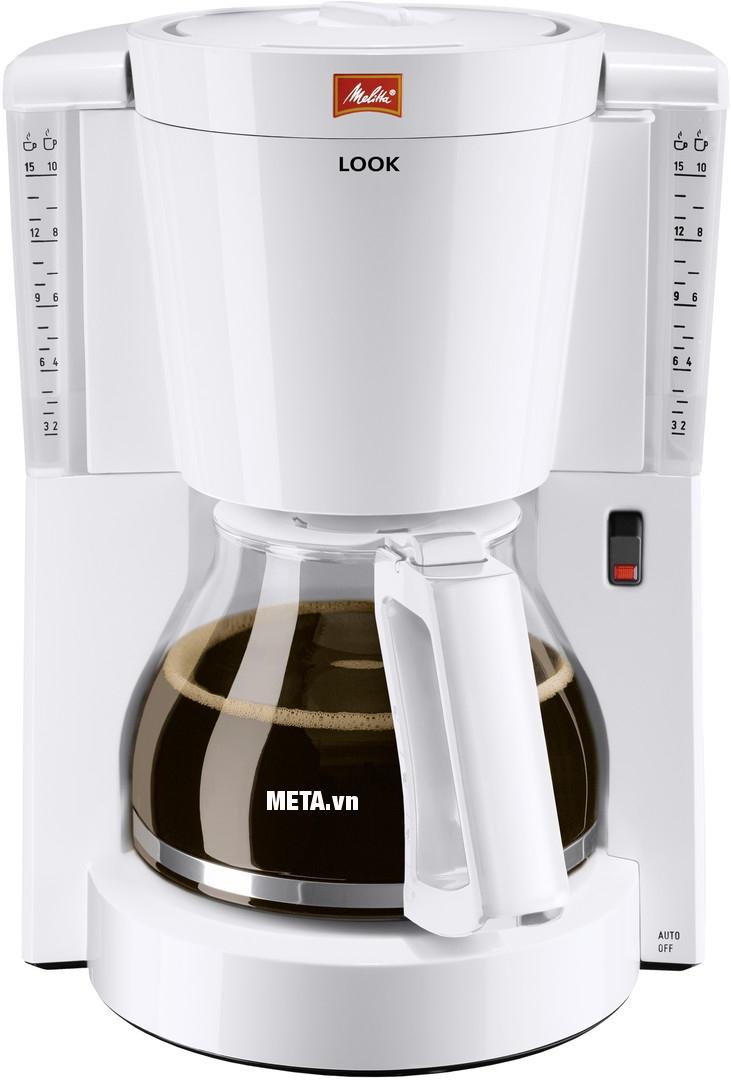 Máy pha cà phê Melitta Look IV Basic giúp lọc được tối đa 10 - 15 tách.