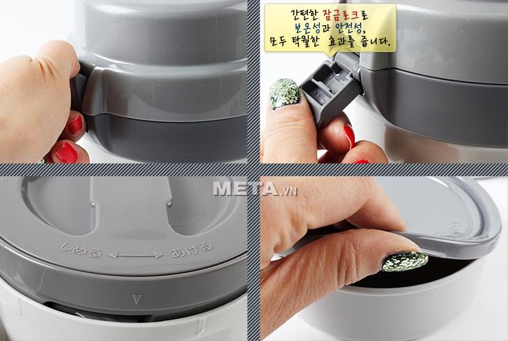 Bình đựng thức ăn Zojirushi SL-JAF14 có nắp đậy bằng nhựa