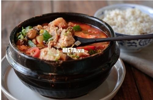 Nồi nấu cháo đa năng Hàn Quốc BBcooker BS15 dùng nấu món bò cay nấu chậm