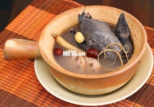Nồi nấu cháo đa năng Hàn Quốc BBcooker BS15 dùng nấu gà ác hầm