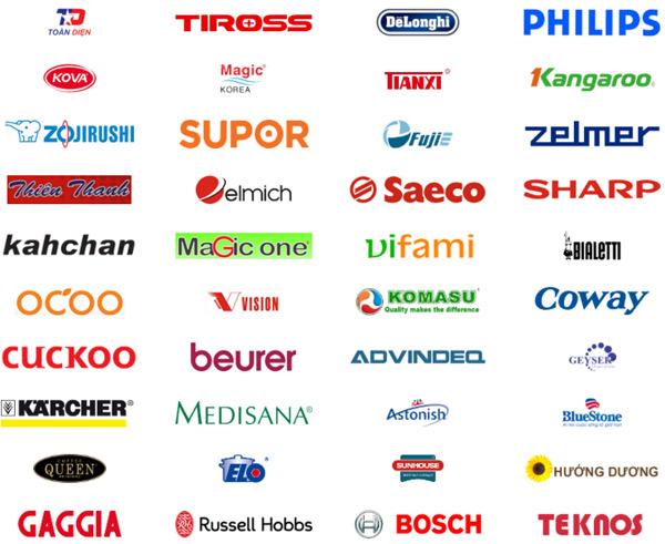 Các thương hiệu gia dụng uy tín trên thị trường như: Tiross, Philips, Delonghi, Kova, CucKoo, Sharp, Vifami, Elo, Elmich, Kangaroo, Sunhouse,... đều được bán tại META.vn