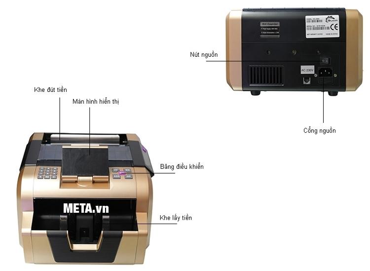 Máy đếm tiền Silicon MC-2900 có cấu tạo đơn giản dễ sử dụng.