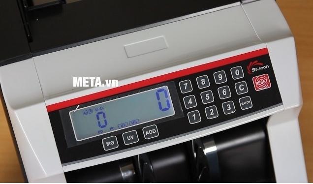 Máy đếm tiền Silicon MC-330 có chức năng phát hiện tiền giả bằng MG và UV.