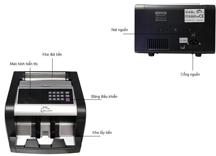 Cấu tạo của máy đếm tiền Silicon MC-3600