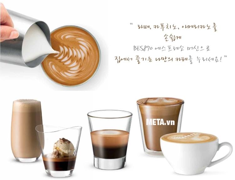 Máy pha cà phê Breville 870XL giúp pha được nhiều loại cà phê với tỷ lệ hoàn chỉnh.