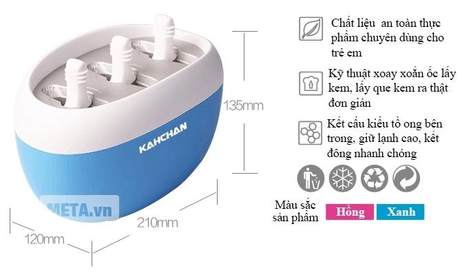 Kích thước máy làm kem