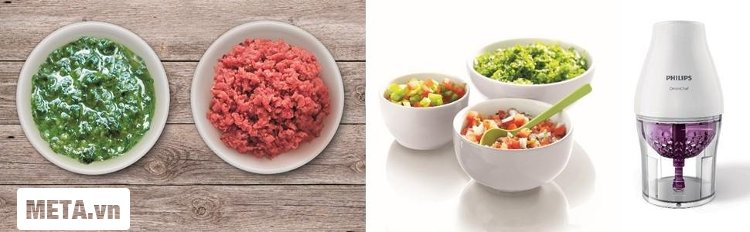 Máy xay thịt Philips HR2505 cho bữa ăn ngon miệng và nhanh chóng