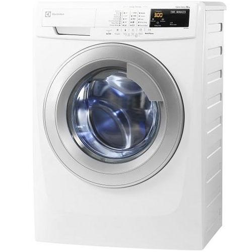 Máy giặt cửa trước 8 kg Electrolux EWF10843 chạy êm và giặt sạch quần áo.